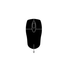 mouse scroll icon black vector image