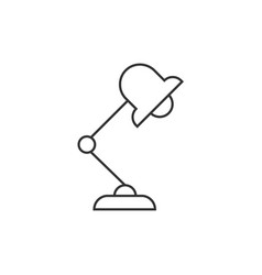 office lamp outline icon vector image