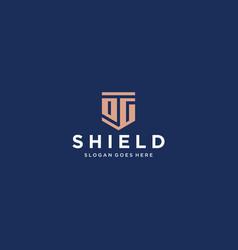 og dg shield logo vector image