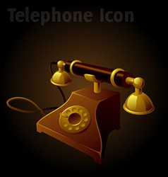 Old telephone vector