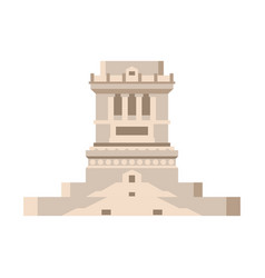 Pedestal of statue of liberty empty isolated vector