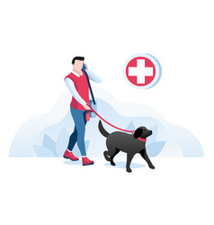 pet clinic concept hand cartoon vector image