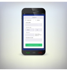 Phone with mobile wallet vector image
