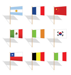 pin flags vector image