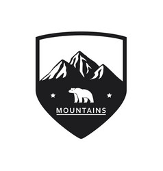 polar bear mountain icon vector image