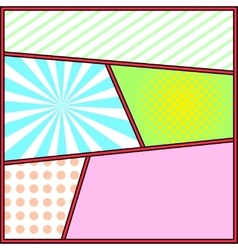 Pop art frame comics background page template vector