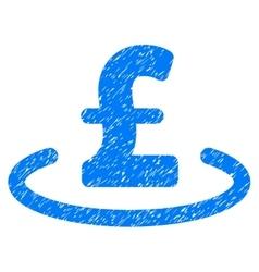 Pound Location Grainy Texture Icon vector