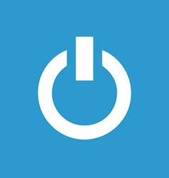 Power on icon white on blue background vector