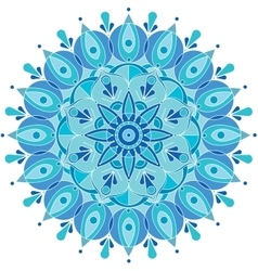 Round pattern snowflake vector
