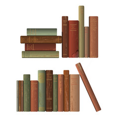 Rows of old books vector