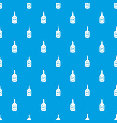 rum pattern seamless blue vector image