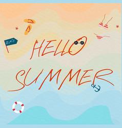 sea beach summer cartoon vector image
