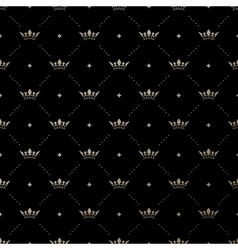 Seamless gold pattern with king crowns vector image vector image
