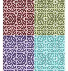 Seamless islamic moroccan pattern set arabic vector