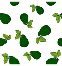 Seamless Pattern of Avocado vector