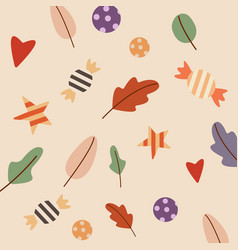 seamless pattern with candies pattern autumn vector image