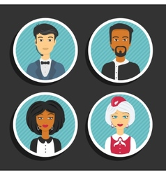 Set of symbols Support service people vector image