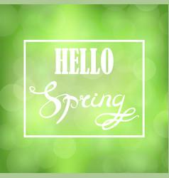Spring lettering design vector