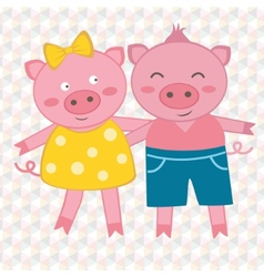 Spring pigs vector