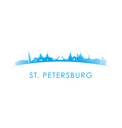 st petersburg skyline silhouette design vector image