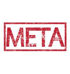 stamp text meta vector image