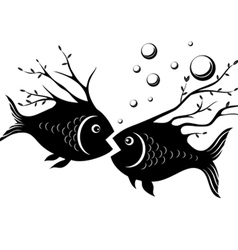 strange fish vector image