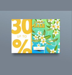summer sale tropical ad poster with exotic vector image