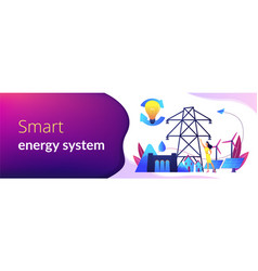 Sustainable energy concept banner header vector