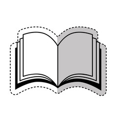 text book silhouette isolated icon vector image