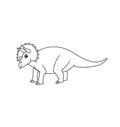 triceratops dinosaur vector image