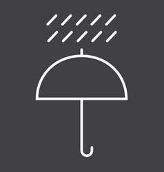 umbrella symbol line icon logistic vector image vector image