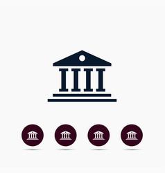 University icon simple college element symbol vector