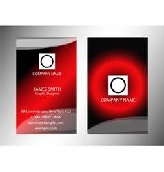 Vertical Modern Business Card Set vector image
