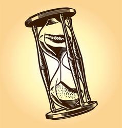 Vintage hourglass vector