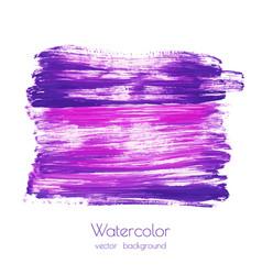 Violet purple lilac grunge marble watercolor vector