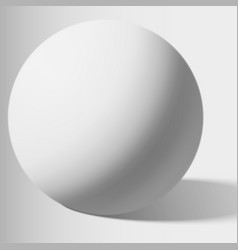 White sphere isolated on white vector