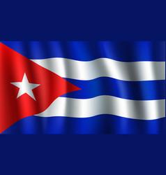 3d flag of cuba cuban national symbol vector image