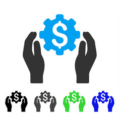 banking maintenance hands flat icon vector image