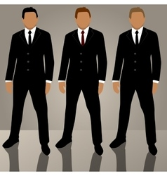 set of man in suit avatars vector image vector image
