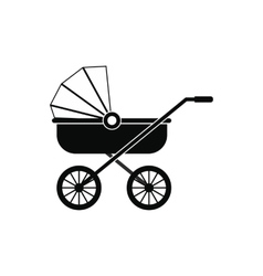 Baby carriage black simple icon vector image