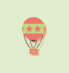 circus watercolor hot air balloon in sticker style vector image