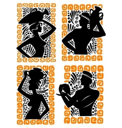 Classical Greek or Roman figures vector image vector image