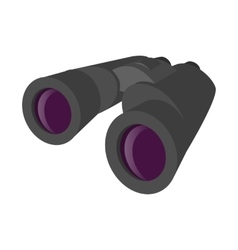 Grey binocular cartoon icon vector image
