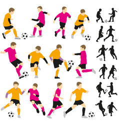 soccer football children boys playing vector image vector image