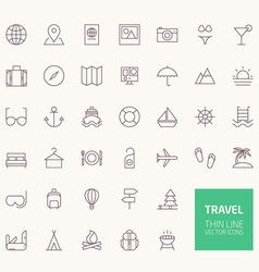 Travel Outline Icons for web and mobile apps vector image