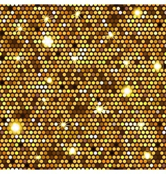 Gold seamless pattern of hexagons vector image vector image