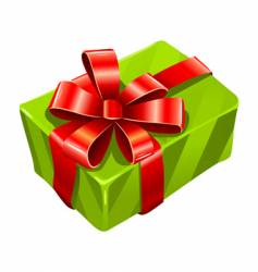 greed gift box isolated vector image