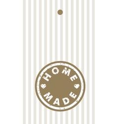 Homemade label design element vector image