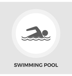 Pool flat icon vector image vector image