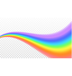 Rainbow icon realistic isolated white transparent vector